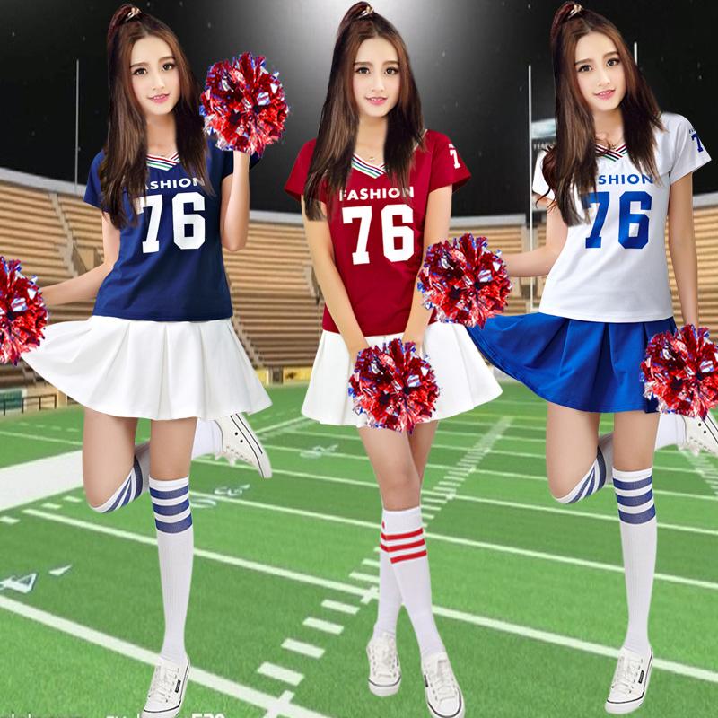 新款成人拉拉队演出服装足球宝贝啦啦操舞蹈服学生校运会打歌服装图片