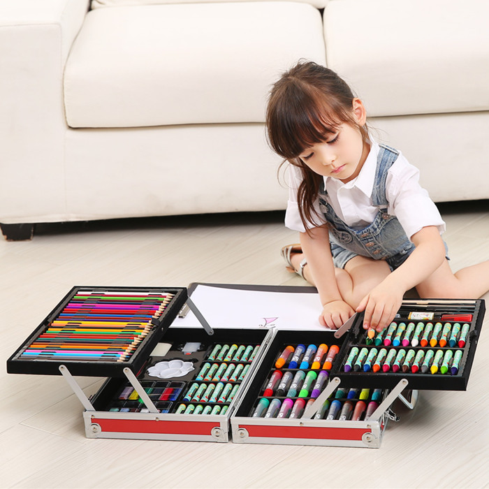 儿童画画工具组合小学生学习用品美术绘画套装画笔水彩笔生日礼物图片