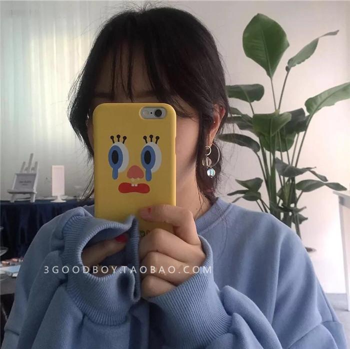 张悠雨黄色网_韩国ins网红同款黄色iphone6 6plus 7plus手机壳简约情侣6s硬壳潮