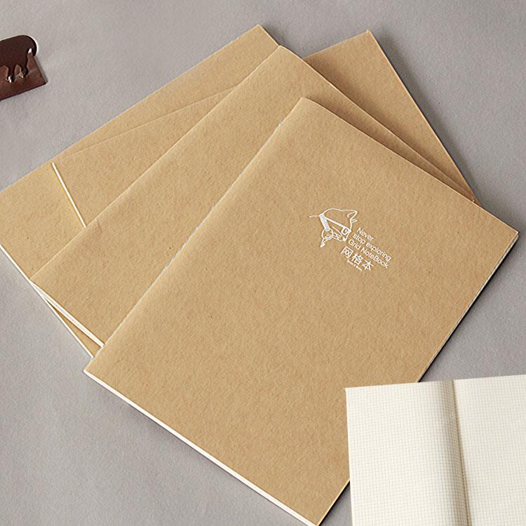 悦木 牛皮纸封面b5/16k网格本 5mm方格笔记本坐标设计本画图本图片