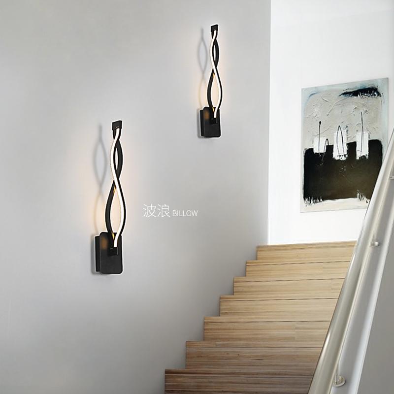 后现代简约壁灯 客厅卧室楼梯过道走廊墙壁灯具创意个性led床头灯图片