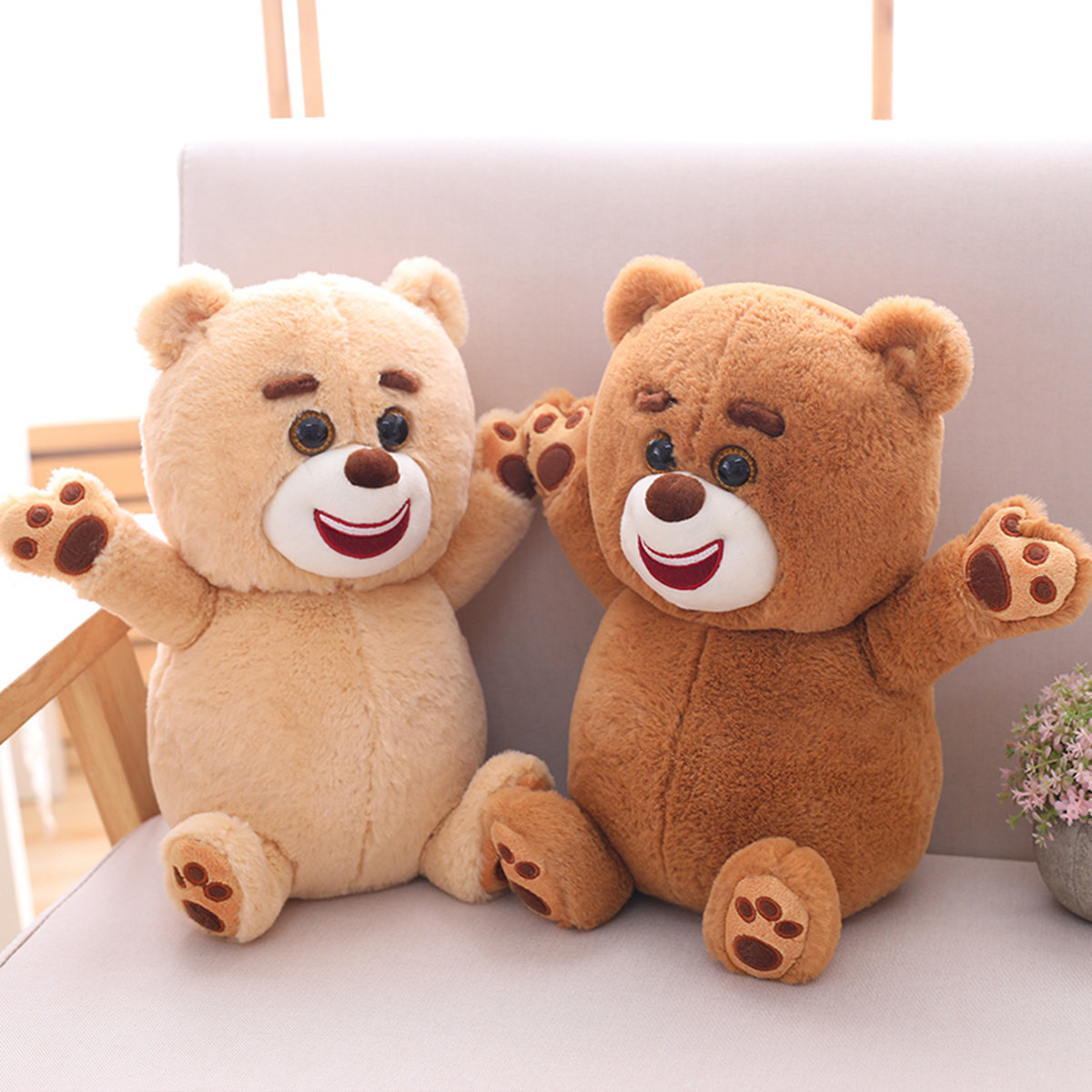 zoobies小熊玩具抱枕生日公仔二合一可爱玩具儿童毛绒泸定靠枕城图片
