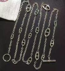 欧美饰品包包链子h家猪鼻子链条链子长款项链包链1.2米金银凯