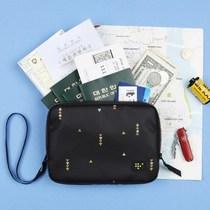 韩国正品antennashop全家旅行护照包防水化妆包数码收纳包存折包