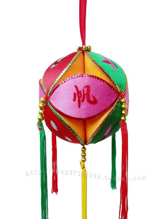 壮族绣球刺绣手工绣球婚庆吉祥物广西壮乡特产4工分图片