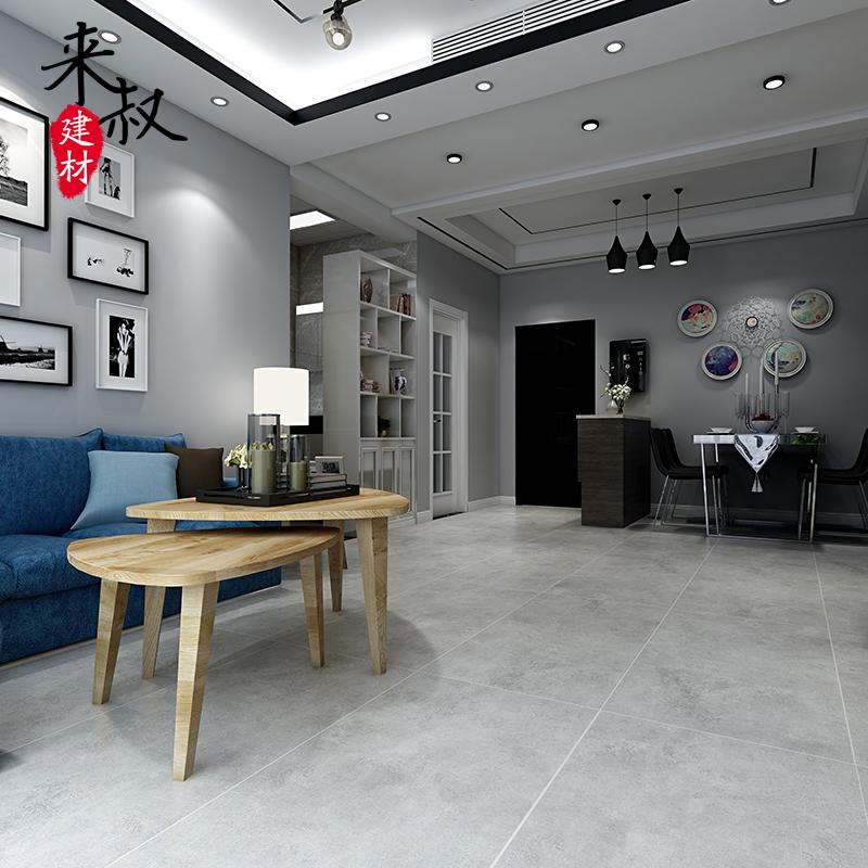 热卖来叔600*1200灰色哑光仿古砖北欧客厅地板砖防滑水泥灰瓷砖推荐图片