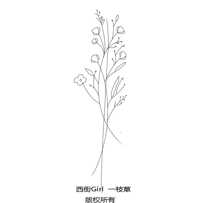 热卖西街girl 性感潮牌一支草韩国风格 情侣刺青纹身贴防水 女 持久图片