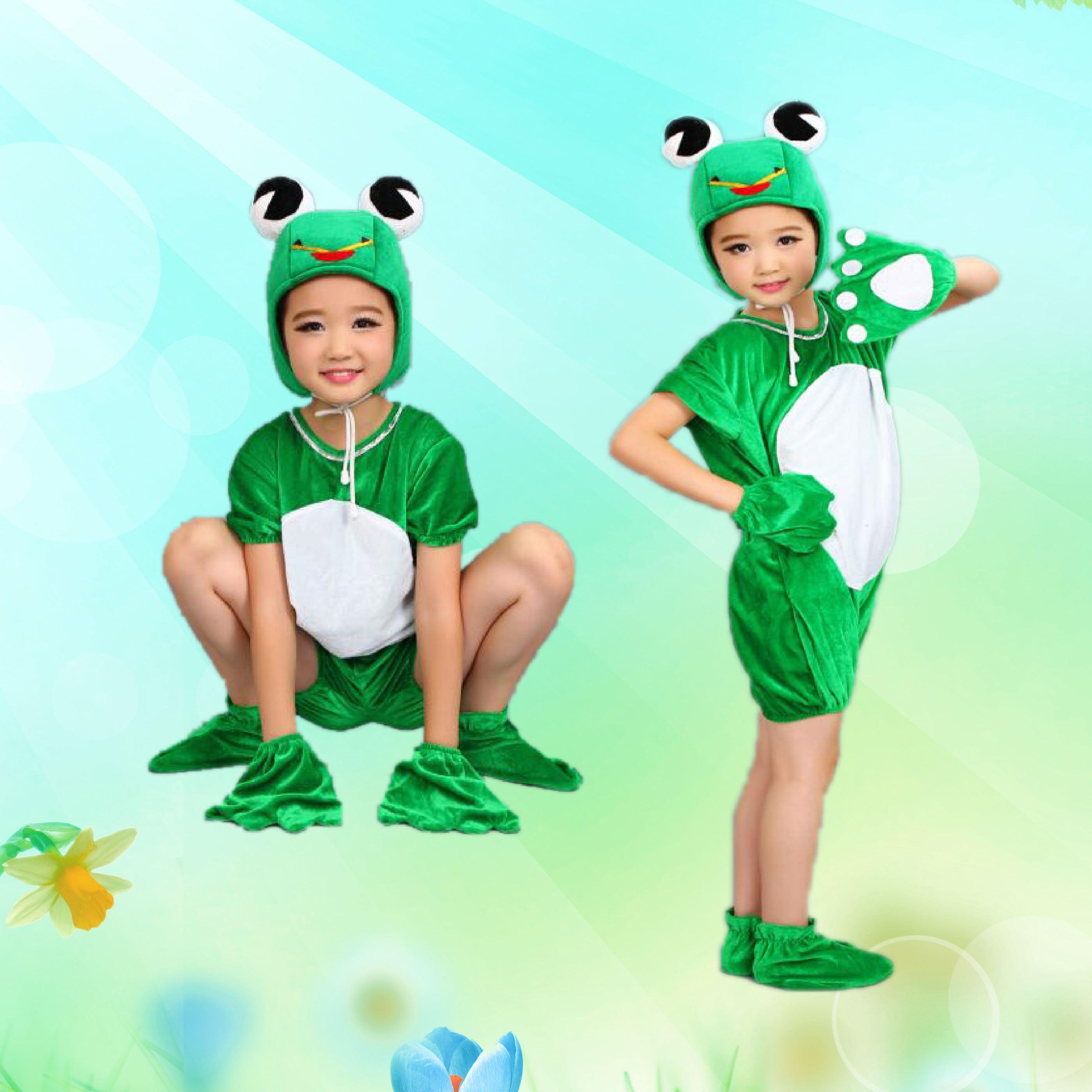 六一蝌蚪青蛙演出服小儿童找动物小跳蛙小妈妈服装衣服v蝌蚪青蛙蝴蝶兰挺好养的图片
