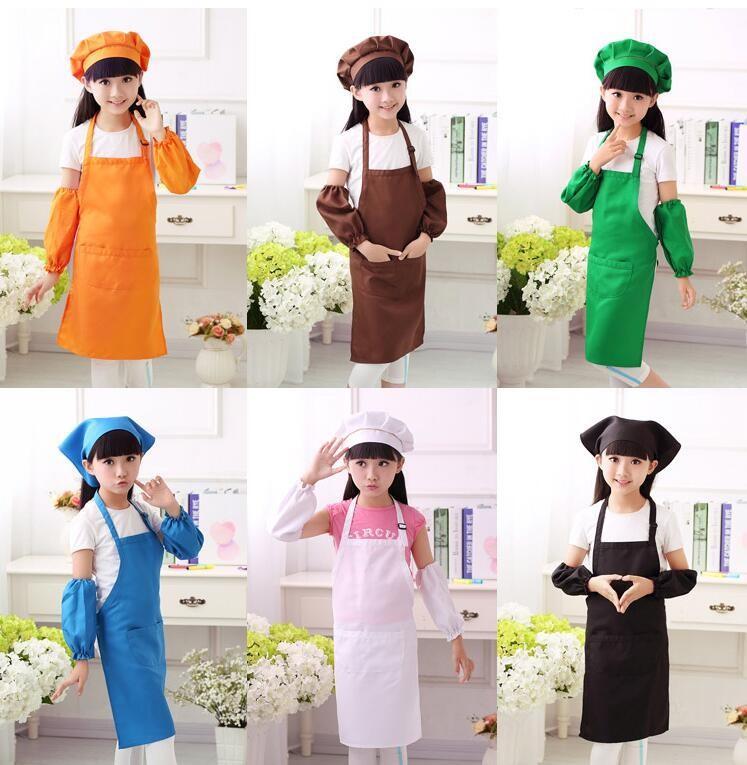 儿童小厨师围裙演出服幼儿餐饮烘焙画画节日表演服装围裙套装定制图片