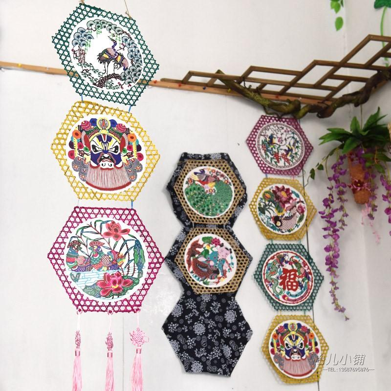 创意竹编吊饰 中国风古典名族卡纸 幼儿园空中吊饰家居壁饰装饰图片