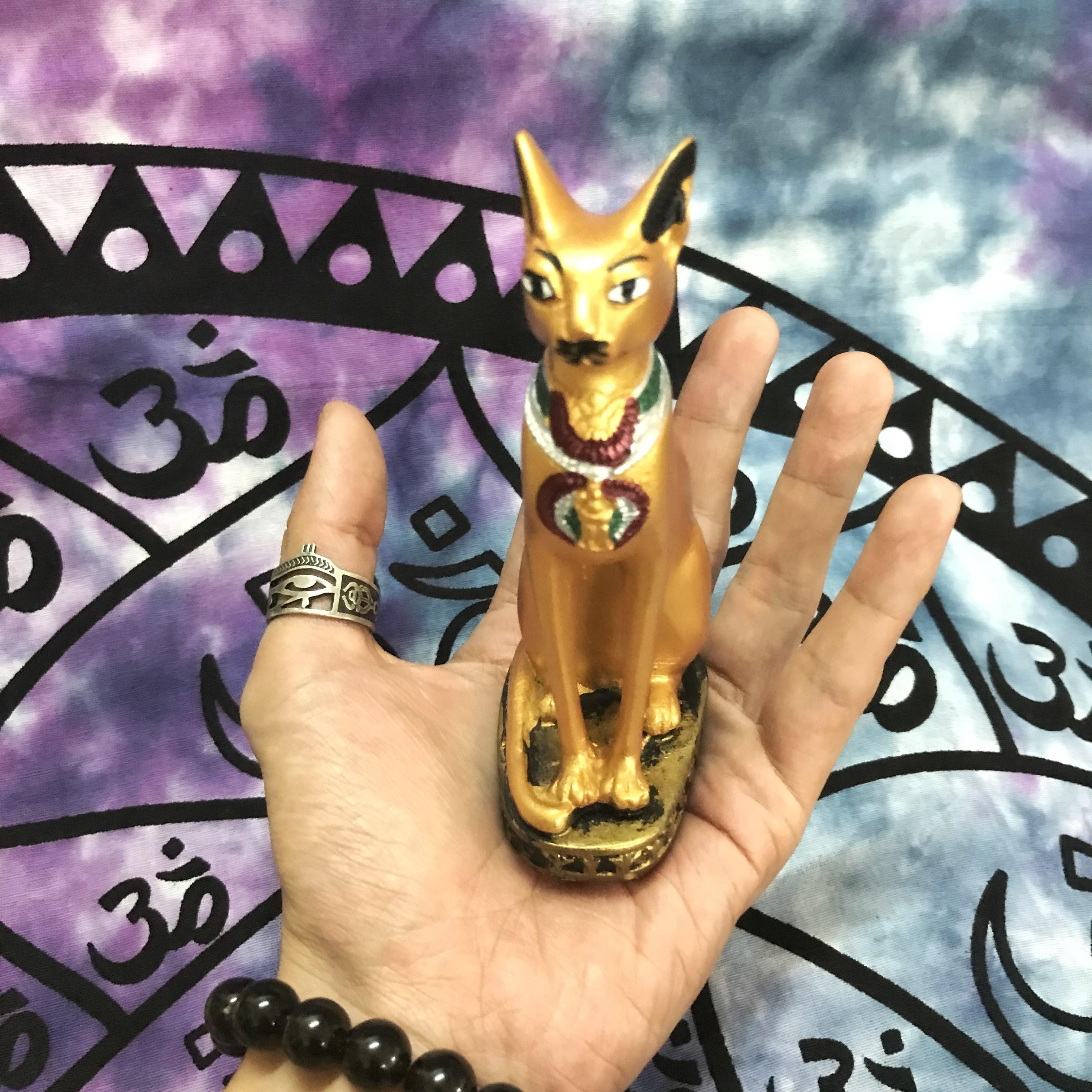 热卖埃及贝斯特女神猫神 手工品招财猫 客厅电视柜家居饰品13cm推荐