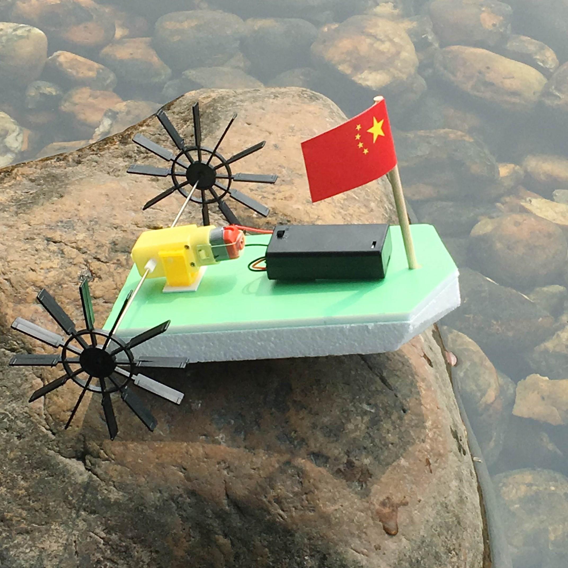 diy双桨明轮船 电动快艇益智科技365bet网上娱乐_365bet y亚洲_365bet体育在线导航小制作轮船模型