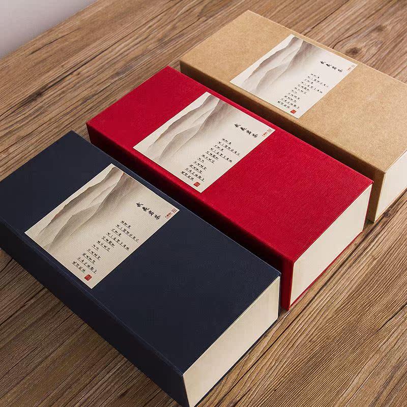 茶叶包装盒空礼盒通用牛皮纸纸盒简易创意金骏眉铁观音小包装红茶图片