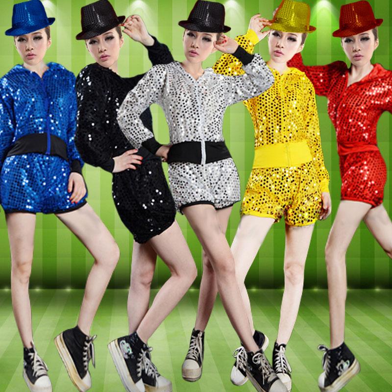 小街舞女生演出服亮片苹果舞女月经爵士服蹈服岁不来正常的秋冬套装12吗图片