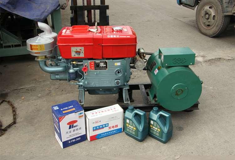 热卖发电机组220v柴油发电机5kw中国小型常州三相10kw20kw家用单相