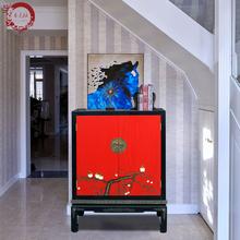 热卖晋元恒新中式实木手绘漆器佛龛柜二门收纳柜储物柜玄关柜禅意家具图片