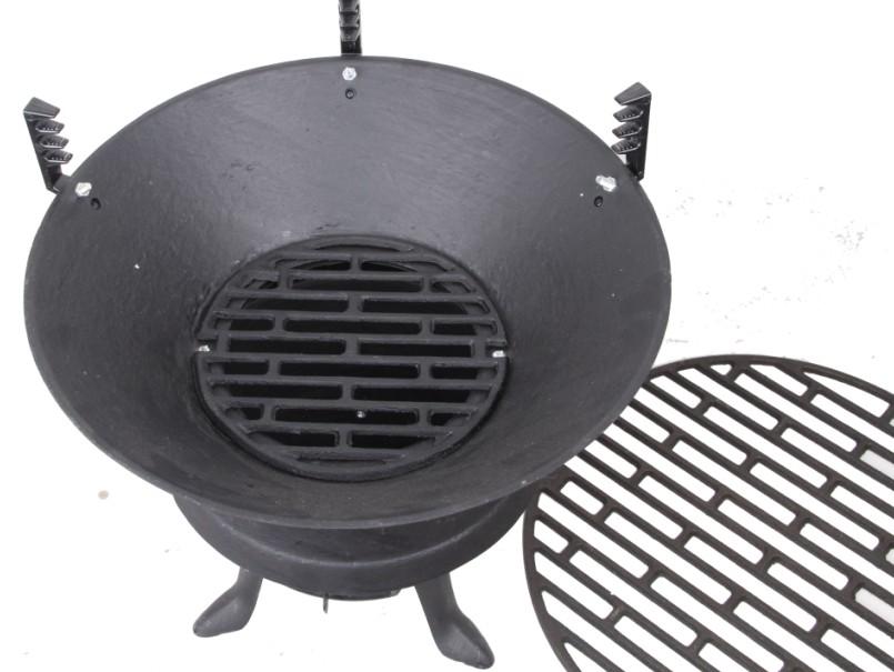 欧式复古生铁炉子 户外烧烤架烧烤炉 铸铁木炭炉 家用图片