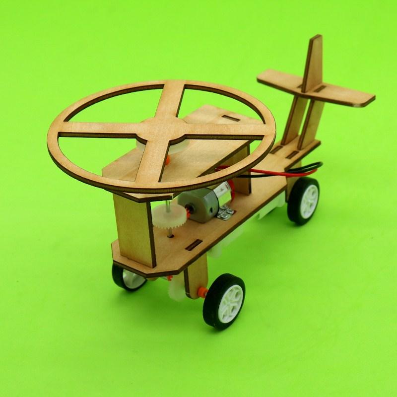 热卖套装男孩年级环保高科技物理小制作电动直升飞机中学生零件手工推