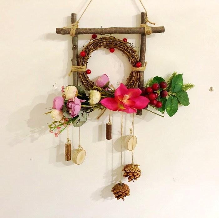 幼儿园创新装饰品永生花自制干树枝棉花树枝文艺范森林系拍摄道具