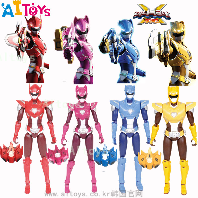 热卖韩国迷你特工队二代变形玩具人偶关节玩具男孩变形机器人玩偶套装