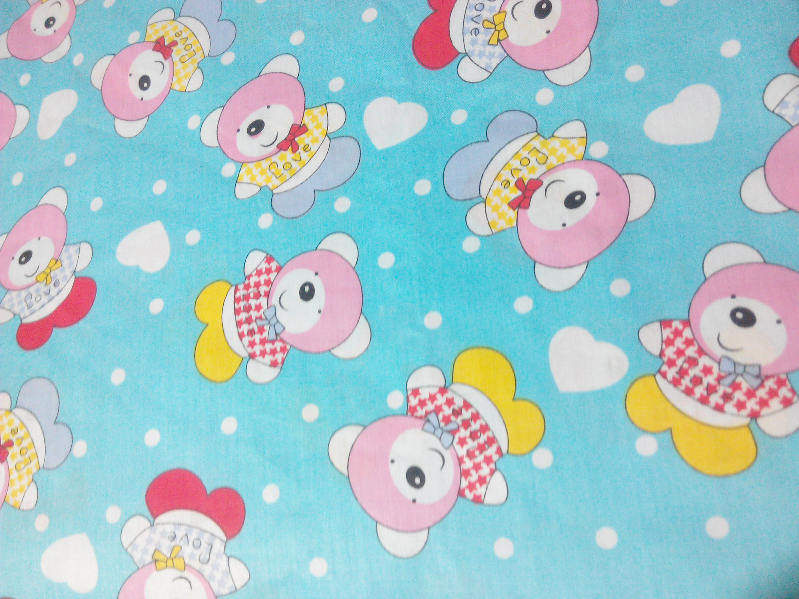 宝宝卡通纯棉全棉布料婴儿床品面料布幼儿园儿童床单图片