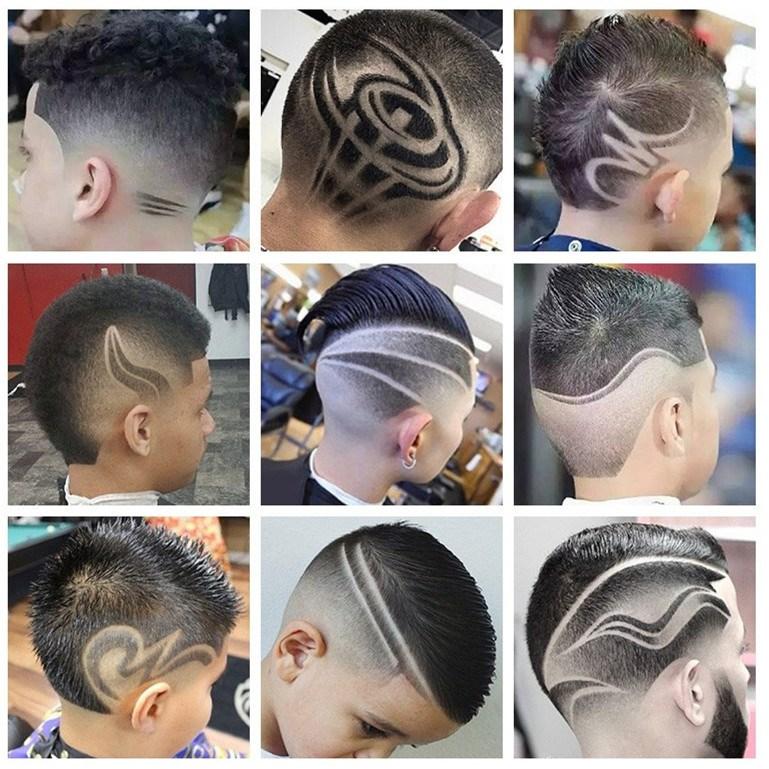 男童理发模型闪电儿童发型造型模具图案小孩模板图案酷西瓜造型图片