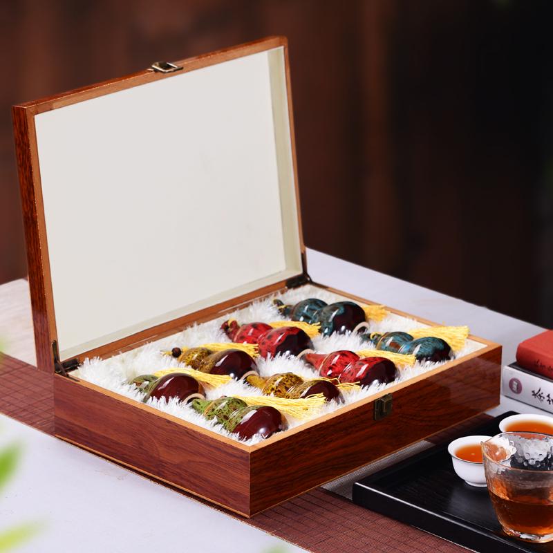 金骏眉 大红袍 白毫银针 茉莉花茶 组合茶叶礼盒装 吉祥如意礼盒图片