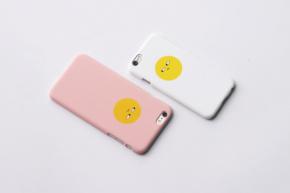 原创ins风可爱萌小黄鸭手机5seiphone6splus全包边透明拉链软壳环保苹果胶袋图片