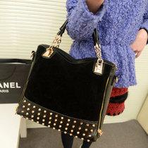 女包新款2013韩版复古磨砂铆钉拼接单肩包手提包潮女士包包