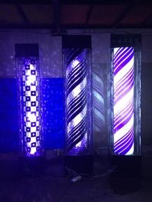 厂家直销 落地式美发转灯 led灯带式转灯 发廊标志灯 理发店灯箱图片