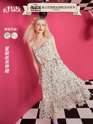 taobao agent 【Alice Collaboration Series】Fairy pocket floral dress 2021 summer new style v-neck suspender skirt