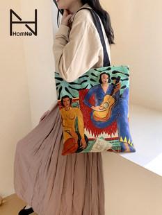 Hongna арт ниша платнена чанта голям капацитет студентско парти дива чанта Matisse чанта през рамо женска hh