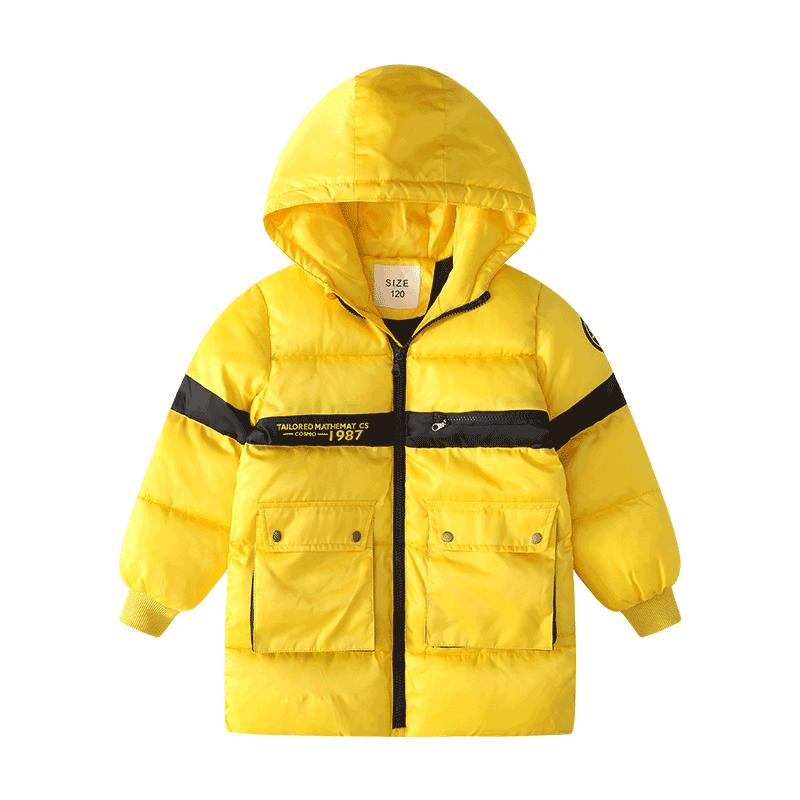 男童冬季上衣2019新款童装防风保暖羽绒棉外套韩版中长款棉服大衣