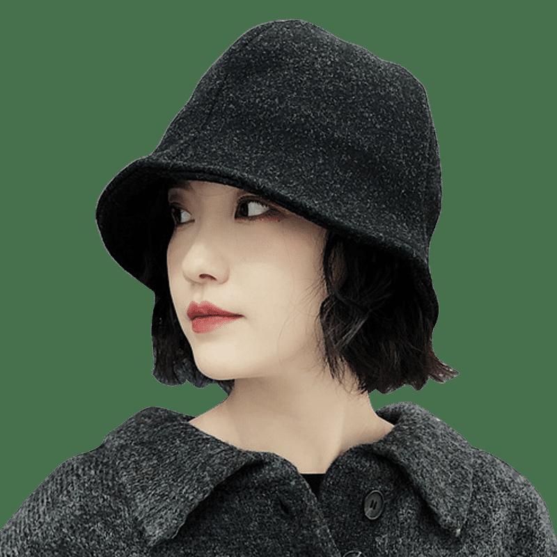 设计师款日本小众纯色复古渔夫帽子潮男女秋季时尚街头水桶帽盆帽