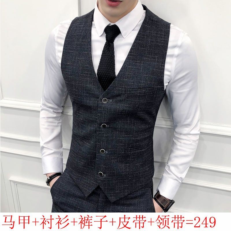 Wedding Dress Male Groom Clothing Thin Section Suit Suit Autumn