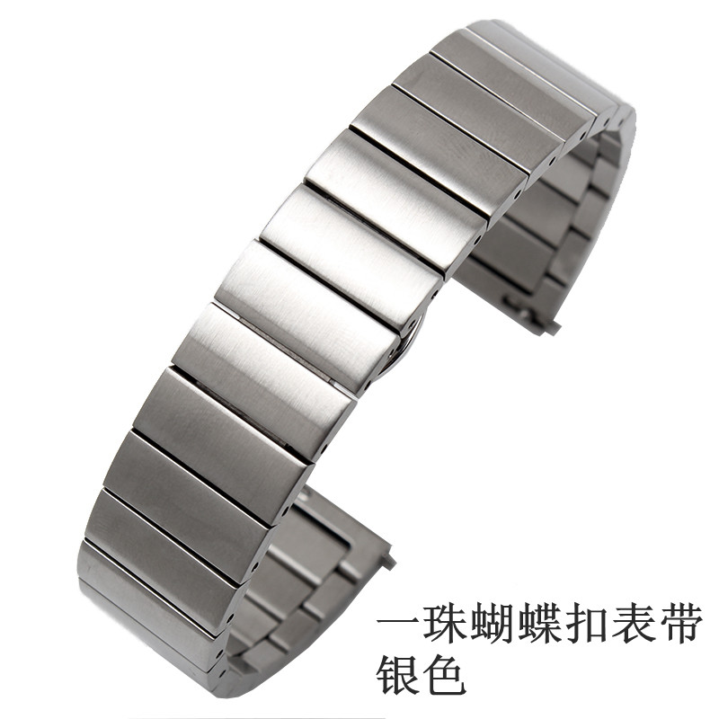 A BEAD BUTTERFLY BUCKLE STRAP [SILVER] TO SEND STEEL FILM