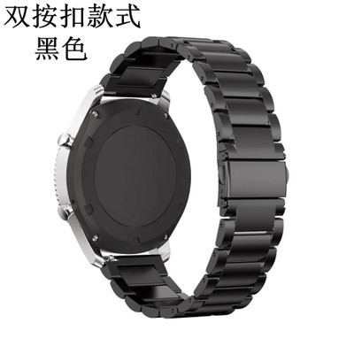 THREE BEADS DOUBLE DARK BUCKLE STRAP [BLACK] TO SEND STEEL FILM