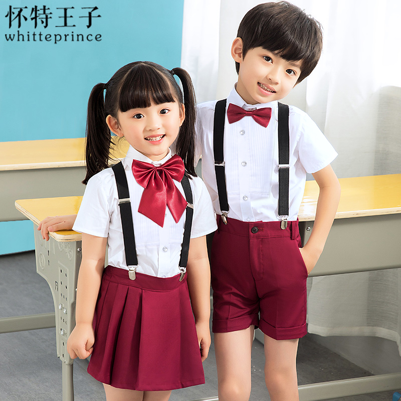 WINE SHORTS BOY'S SLING (WHITE SHORT SLEEVE + WINE RED SHORTS + STRAP + BOW TIE)