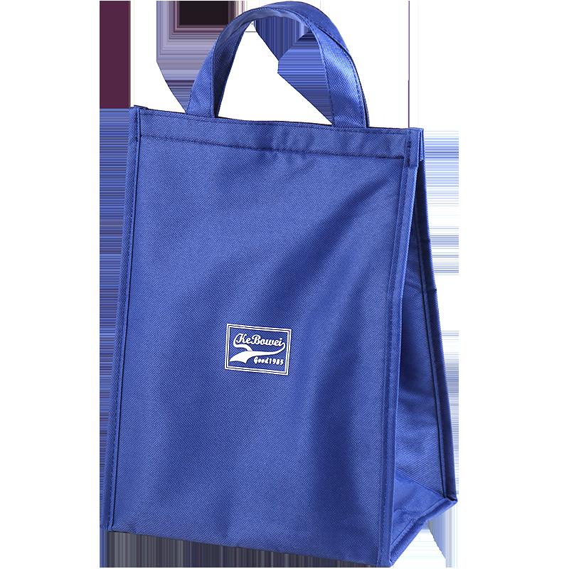 加厚学生带饭包饭盒袋大号手拎防水铝箔午餐帆布上班便当手提保温