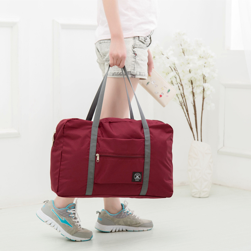Folding bag--candy--wine red