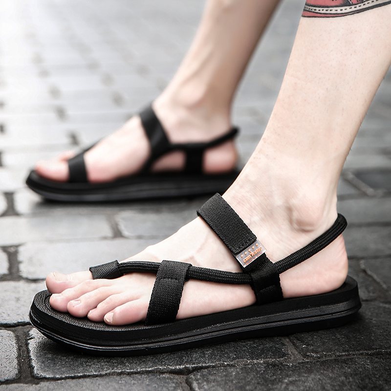 9c526ed8829b Slippers men 2019 New Summer Personality outdoor beach sandals Men s shoes  Korean version trend fashion outside wear cool drag