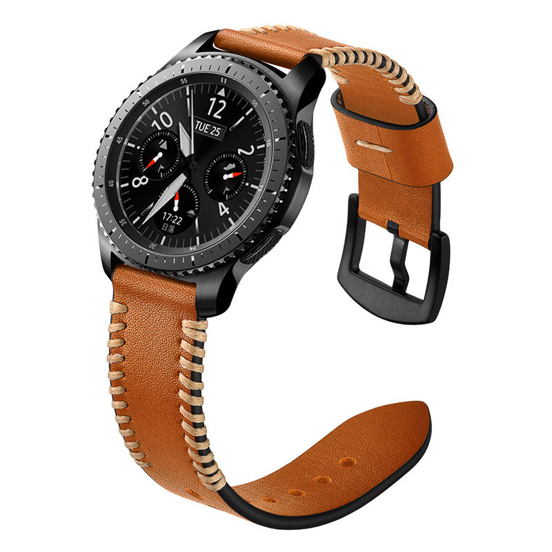 FISH BONE LEATHER STRAP [BROWN] TO SEND FILM