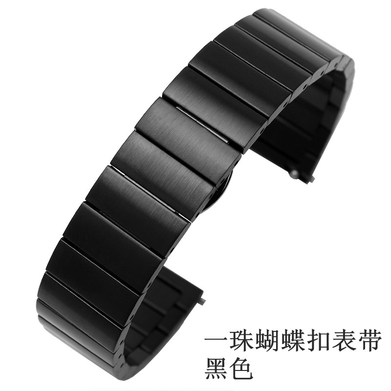 ONE BEAD BUTTERFLY BUCKLE STRAP [BLACK] TO SEND TEMPERED FILM