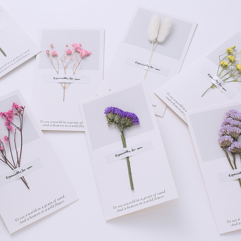 10 Different Style Greeting Cards (dry Flower Greeting Cards)