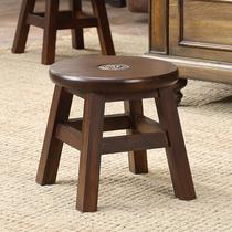 那澜多好美式复古家用凳子时尚茶几凳儿童实木矮凳子小板凳换鞋凳