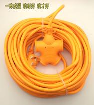 加长摔不烂超长插排插座电动车充电源延长线接线板10/15/20米排插