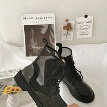 马丁靴女夏季薄款八孔透气复古英伦风短靴百搭网纱靴子女镂空网靴