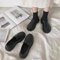 黑色软妹小皮鞋女英伦风平底2020春秋季新款复古日系jk制服单鞋潮
