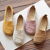 原创春夏文艺复古浅口平底单鞋女2020新款软底学生休闲鞋韩版女鞋