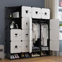 衣柜简易现代简约经济塑料布艺宿舍省空间组装树脂衣橱折叠仿实木